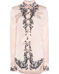 b024397b Lyst - Paco Rabanne Embroidered Satin Shirt in Black