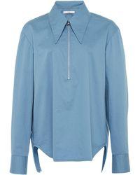 Tibi - Tech Poplin Zip Shirt - Lyst