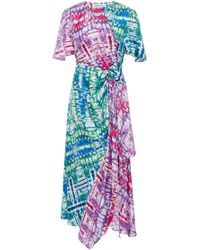 Prabal Gurung - Tie-dye Silk Asymmetric Midi Dress - Lyst