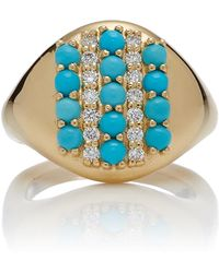 Khai Khai - 18k Gold, Turquoise, And Diamond Ring - Lyst