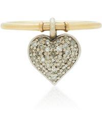 Nancy Newberg - 14k Yellow And White Gold Diamond Ring - Lyst