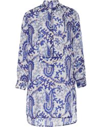 Figue - Thalie Printed Silk Tunic Top - Lyst