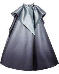 Marchesa - Draped Satin Skirt Overlay - Lyst