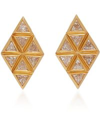 Melissa Kaye - Chloe 18k Gold Diamond Earrings - Lyst