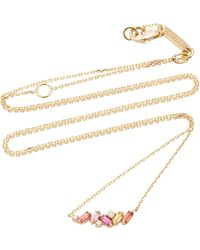 Suzanne Kalan - 18k Yellow Gold, Diamond And Sapphire Zigzag Necklace - Lyst