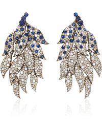 Sanjay Kasliwal - Diamond Feather Earrings - Lyst