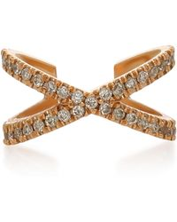 Eva Fehren - X Rose Gold And Diamond Earcuff - Lyst