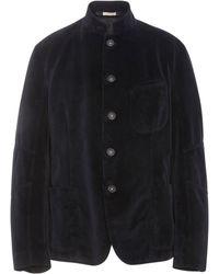 Massimo Alba - Stand Collar Velvet Sports Jacket - Lyst