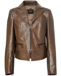 Akris - Al Leather Jacket - Lyst