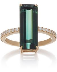 Yi Collection - 18k Gold, Tourmaline And Diamond Deco Ring - Lyst