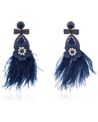 Ranjana Khan Lovebird Floral Drop Earrings Y2MJlpn4K