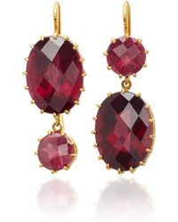 Renee Lewis - 18k Gold Pink Tourmaline Earrings - Lyst