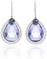 Martin Katz - One-of-a-kind Tanzanite Briolette Drop Earrings - Lyst