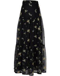 Rahul Mishra - Bouquet Tiered Mesh Maxi Skirt - Lyst