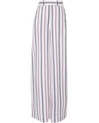 Martin Grant - Striped Wide-leg Trousers - Lyst