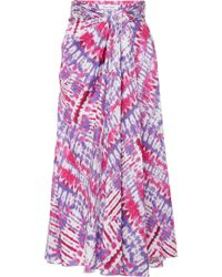 Prabal Gurung - Tie-dye Silk Midi Skirt - Lyst