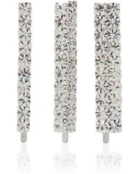 Alessandra Rich - Crystal Embellished Hair Pin Set - Lyst