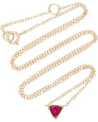 Shahla Karimi - Trillion 14k Gold Ruby Necklace - Lyst