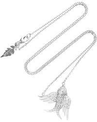 Colette - Bird 18k White Gold Diamond Necklace - Lyst