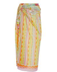 Emilio Pucci - Tropical-print Cotton Pareo - Lyst