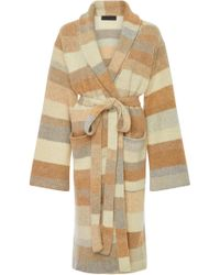 The Elder Statesman - Stripe Cashmere Robe - Lyst