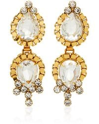 Nicole Romano - Lumi 18k Gold-plated Crystal Earrings - Lyst