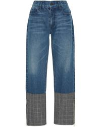 ei8ht dreams - Plaid Block Jean - Lyst