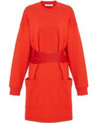Proenza Schouler - Satin-trimmed Cotton-jersey Dress - Lyst