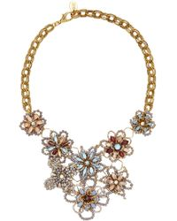 Erickson Beamon - Wild Flower Crystal Necklace - Lyst
