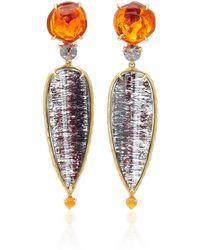 Daria de Koning - Caliente 18k Yellow Gold Multi-stone Earrings - Lyst