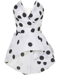 Monique Lhuillier - Abstract Dot Printed Top - Lyst