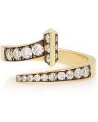 Sylva & Cie - Equestrian 18k Gold Diamond Ring - Lyst