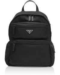 495316b9b13f Lyst - Prada Quilted Velvet Backpack in Black