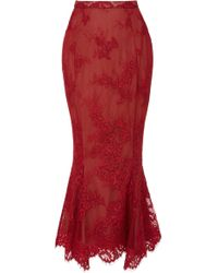 Marchesa - Exclusive Floral Mermaid Skirt - Lyst