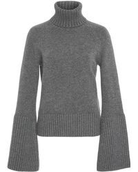 Michael Kors - Bell Sleeve Cashmere Turtleneck Jumper - Lyst