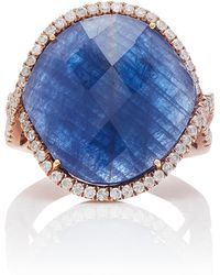 Meira T - Blue Sapphire And Diamond Ring - Lyst