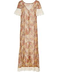 Anna Sui - Nightingale Cotton And Lurex Dress - Lyst