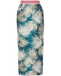 Stella Jean - High-waisted Cotton-blend Pencil Skirt - Lyst