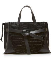 Loewe - Crocodile Gate Top Handle Bag - Lyst