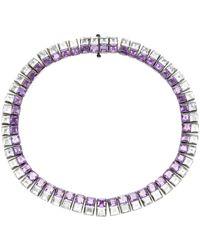 Lynn Ban Riviere Amethyst And Aquamarine Necklace