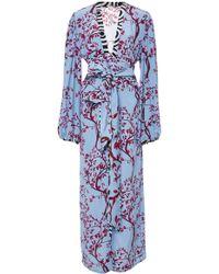 Johanna Ortiz - Exclusive Ethiopia Belted Floral-print Silk Kimono - Lyst