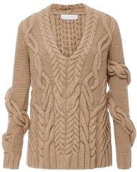 Nellie Partow - Bay Wrap Cableknit Sweater - Lyst