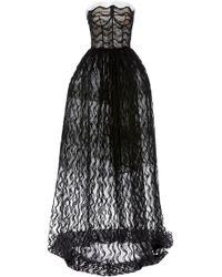 ce6001acb71d Oscar de la Renta Women's Strapless Sweetheart High-low Lace Gown - White  in White - Lyst
