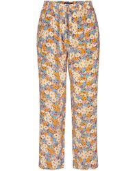 Stine Goya - Truman Silk Wide-leg Trousers - Lyst