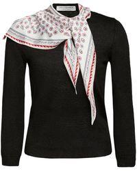 Philosophy Di Lorenzo Serafini - Linen-blend Scarf-neck Sweater - Lyst