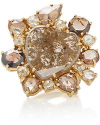 Kimberly Mcdonald - 18k Gold And Brown Diamond Heart Ring - Lyst