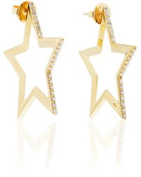 Kwiat - Star Hoop Earrings - Lyst