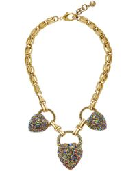 Lulu Frost - Nina Gold-plated Crystal Heart Necklace - Lyst