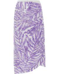 Michael Kors - Palm Embellished Handkerchief Skirt - Lyst