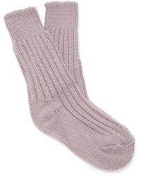 The Elder Statesman - Yosemite Ribbed Cashmere Socks - Lyst